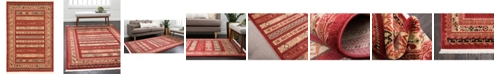 Bridgeport Home Ojas Oja4 Rust Red 4' x 6' Area Rug