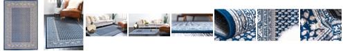 Bridgeport Home Axbridge Axb1 Blue 4' x 6' Area Rug