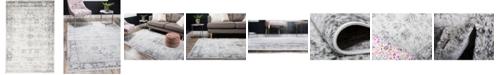 Bridgeport Home Basha Bas1 Gray 4' x 6' Area Rug