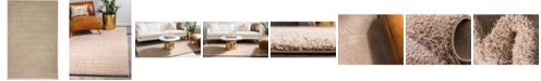 Bridgeport Home Salon Solid Shag Sss1 Taupe 5' x 8' Area Rug