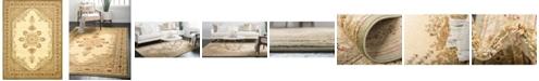 Bridgeport Home Belvoir Blv1 Ivory/Green 10' x 13' Area Rug