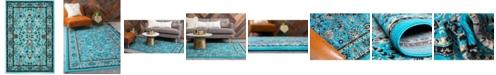 Bridgeport Home Arnav Arn1 Turquoise 4' x 6' Area Rug