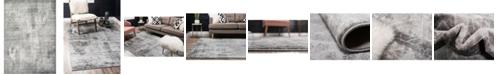 Bridgeport Home Basha Bas6 Dark Gray 4' x 6' Area Rug