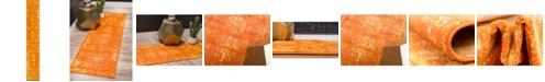 Bridgeport Home Basha Bas1 Orange 2' x 13' Runner Area Rug