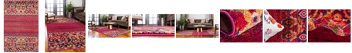 Bridgeport Home Sana San3 Fuchsia 4' x 6' Area Rug