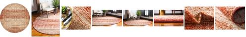 Bridgeport Home Jasia Jas08 Terracotta 8' x 8' Round Area Rug