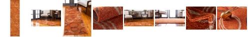 "Bridgeport Home Jasia Jas05 Terracotta 2' 6"" x 10' Runner Area Rug"
