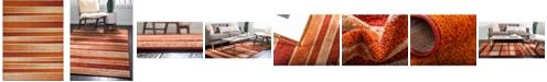 Bridgeport Home Jasia Jas12 Rust Red 9' x 12' Area Rug