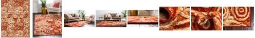 Bridgeport Home Jasia Jas02 Terracotta 9' x 12' Area Rug