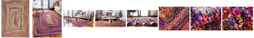 Bayshore Home Bridgeport Home Roari Cotton Braids Rcb1 Multi 9' x 12' Area Rug