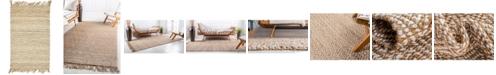 Bridgeport Home Braided Tones Brt3 Natural/White 2' x 3' Area Rug