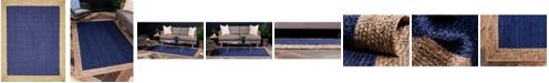 Bridgeport Home Braided Jute A Bja4 Navy Blue 8' x 10' Area Rug