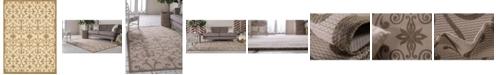 "Bridgeport Home Pashio Pas5 Brown 8' x 11' 4"" Area Rug"