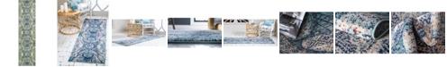 """Bridgeport Home Brio Bri4 Blue 2' 7"""" x 10' Runner Area Rug"""