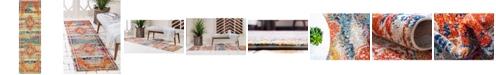 """Bridgeport Home Brio Bri5 Multi 2' x 6' 7"""" Runner Area Rug"""