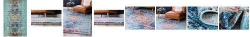 """Bridgeport Home Brio Bri6 Turquoise 10' 6"""" x 16' 5"""" Area Rug"""