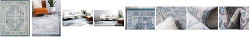 "Bridgeport Home Kenna Ken1 Blue 8' 4"" x 10' Area Rug"