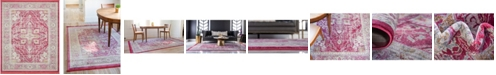 "Bridgeport Home Kenna Ken1 Pink 8' 4"" x 10' Area Rug"