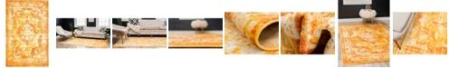 "Bridgeport Home Basha Bas2 Orange 3' 3"" x 5' 3"" Area Rug"