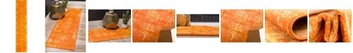 "Bridgeport Home Basha Bas1 Orange 3' 3"" x 16' 5"" Runner Area Rug"