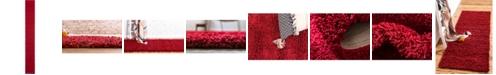 "Bridgeport Home Exact Shag Exs1 Cherry Red 2' 6"" x 19' 8"" Runner Area Rug"