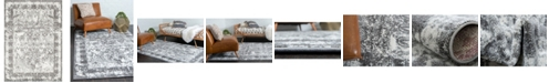 Bridgeport Home Mishti Mis3 Gray 9' x 12' Area Rug