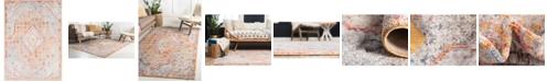 Bridgeport Home Zilla Zil1 Orange 10' x 14' Area Rug