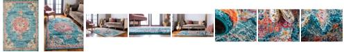 Bridgeport Home Lorem Lor1 Turquoise 10' x 14' Area Rug