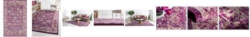 """Bridgeport Home Lorem Lor3 Purple 3' 3"""" x 5' 3"""" Area Rug"""