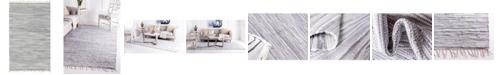 Bridgeport Home Jari Striped Jar1 Gray 5' x 8' Area Rug