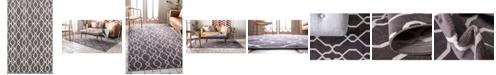 Bridgeport Home Pashio Pas8 Dark Gray 5' x 8' Area Rug