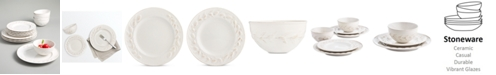 Martha Stewart Collection CLOSEOUT! La Dolce Vita Olive Whiteware 12-Pc. Dinnerware Set, Service for 4, Created for Macy's