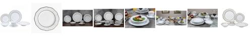 Lorren Home Trends 24 Piece Wavy Fine China Lattice Dinnerware