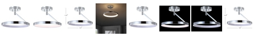 """JONATHAN Y Owen 17.5"""" Dimmable Integrated LED Metal Semi-Flush mount"""