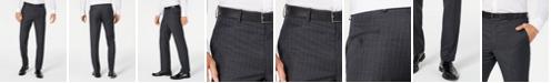Lauren Ralph Lauren Men's Classic-Fit UltraFlex Stretch Charcoal/Blue Stripe Suit Pants