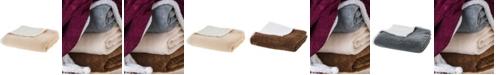 "Cheer Collection Microsherpa Microplush 86"" x 108"" Reversible Throw Blanket"