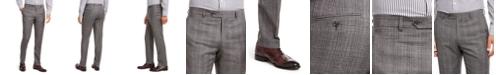 Tommy Hilfiger Men's Modern-Fit THFlex Stretch Gray/Black Plaid Suit Separate Pants