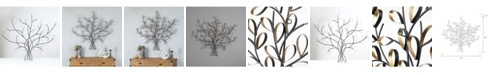 Luxen Home Iron Metal Wall Tree Sculpture