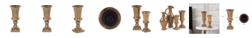 Howard Elliott Antiqued Brass Chalice Vase, Large
