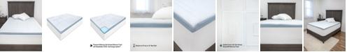 SensorPEDIC SensorCOOL 3-Inch Gel-Infused Memory Foam Mattress Topper - Full