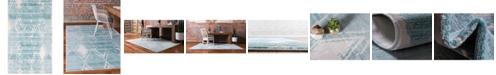 Jill Zarin Carnegie Hill Uptown Jzu006 Turquoise 5' x 8' Area Rug