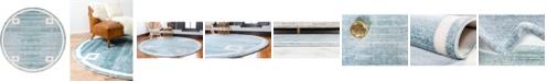 Jill Zarin Lenox Hill Uptown Jzu005 Turquoise 8' x 8' Round Rug