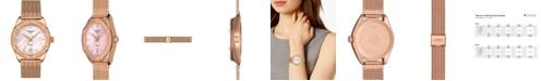 Tissot Women's Swiss PR 100 Sport Chic T-Classic Rose Gold-Tone Stainless Steel Mesh Bracelet Watch 36mm