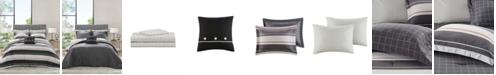 Madison Park Essentials Dalton Reversible 8-Piece Cal King Bedding Set