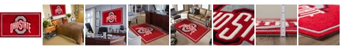 """Luxury Sports Rugs Ohio State Coloh Red 5' x 7'6"""" Area Rug"""