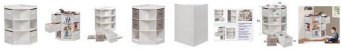 Badger Basket Corner Cubby Storage Unit with Four Reversible Baskets