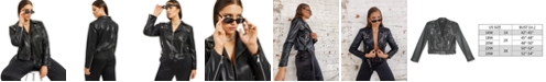 Danielle Bernstein Plus Size Faux-Leather Moto Jacket, Created for Macy's