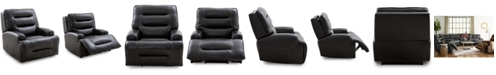 Furniture Adalton Leather Recliner with Power Headrest, Created for Macy's