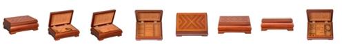 Mele & Co Mele Co. Carmen Wooden Jewelry Box in Walnut Finish
