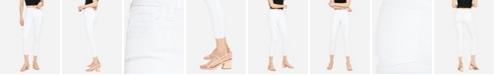 VERVET Women's Mid Rise Clean Cut Hem Skinny Crop Jeans